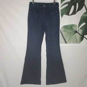 Anthropologie Pilcro Flare Jeans Dark High Rise